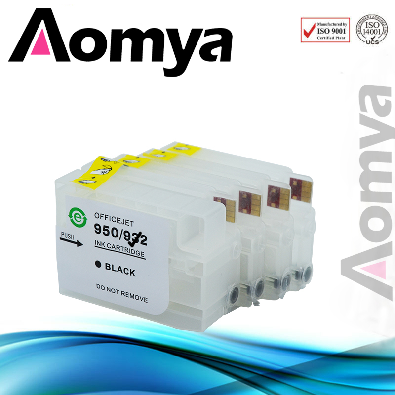 Aomya Refill Ink Cartridge Compatible For HP 932 933 OfficeJet 6100 6600 6700 7110 7610 7612 Printer With Chip free shipping for hp 932 933 refillable ink cartridge with ink with permanent chips for hp officejet 6600 6700 ink jet printer