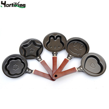 5 pcs/lot mini fired eggs pot kit non-stick frying pan creative breakfast pot for outdoor cooking eggs fired accessories tools