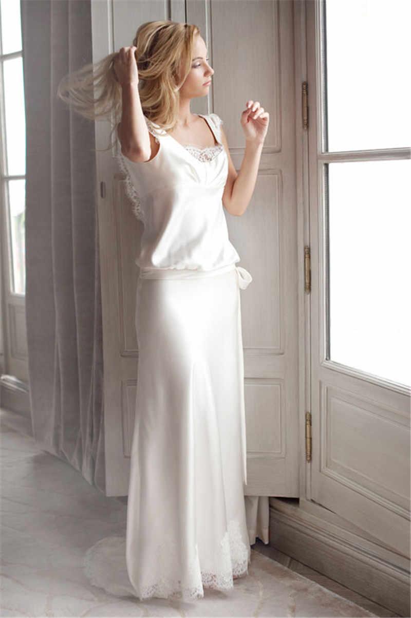 Trouwjurk Special Bohemian Wedding Dress Short Sleeve Chiffon Lace Appliques Gorgeous Sale Boho Bridal Gowns Robe De Mariee