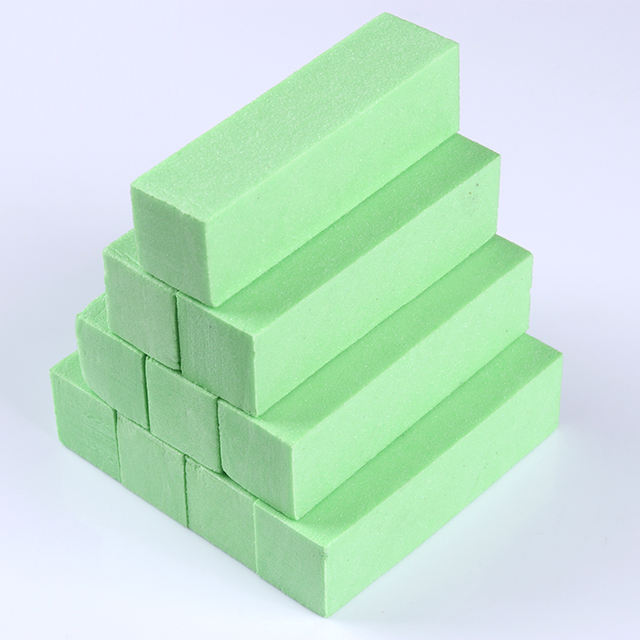 10Pcs Green Sponge Sanding Nail Buffers Files Set Block Polishing Grinding for UV Gel Pedicure Sanding Manicure Nail Art Tool
