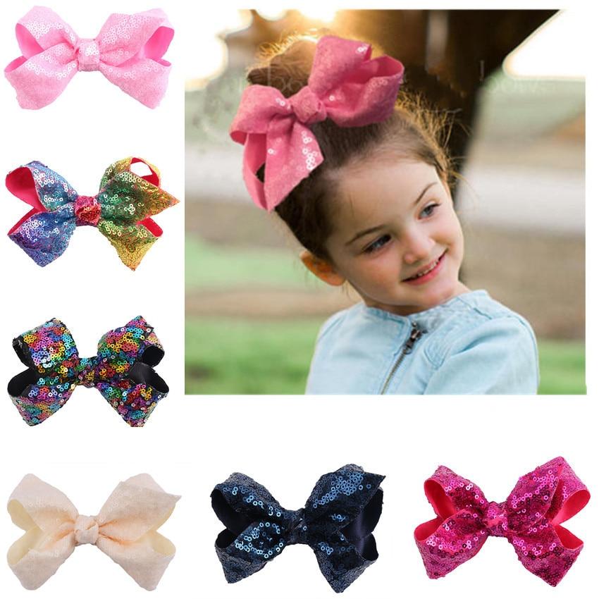 1pc Head Wear Child Pentagram Sequin Hair Clips Kids Girls Accessories Xmas Gift