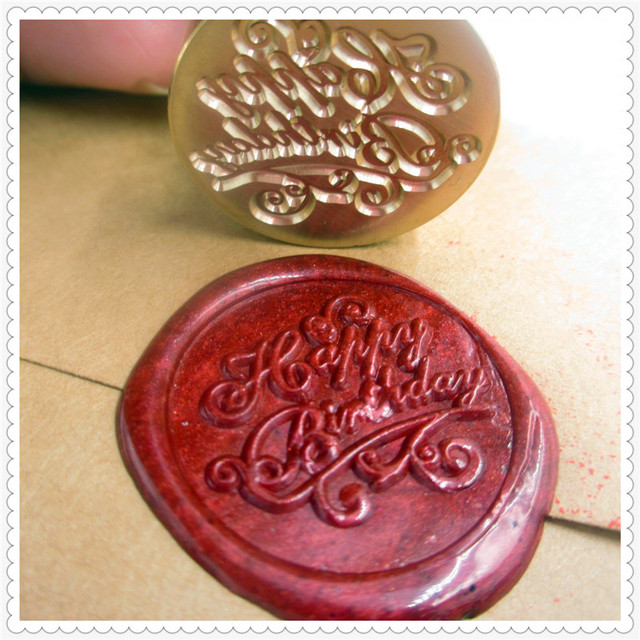 Hy Birthday Wax Seal Stamp Greetings Sealing Wedding Design