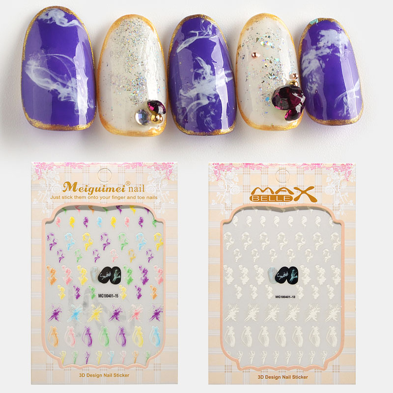 1 Sheet watercolor Water Transfer Slider for Manicure Nail Art Decoration Nail Sticker in Stickers Decals from Beauty Health