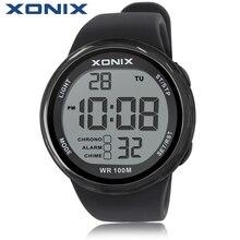 ¡ Caliente! XONIX Hombres Deportes Hardlex Relojes Reloj Multifuncional Digital de Natación de Buceo Impermeable 100 m Diversión Al Aire Libre LLEVÓ Reloj de Pulsera