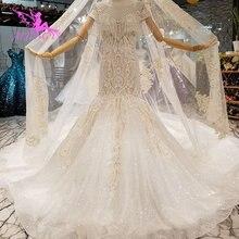 شراء AIJINGYU فساتين الزفاف على الانترنت ثوب حجر الراين الزهور سوتشو الحب الموسم الاكسسوارات فستان الزفاف فساتين الزفاف في دبي