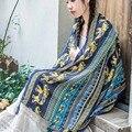[DRESSUUP] Новая Мода Марка Осень Дамы Шеи Украл Слон Печатных Длинный Шарф Обруча Шали Кисточкой cachecol женщина для 180*110 см