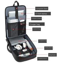 Multifunctional 15 inch Laptop Backpack sleeve case Waterproof Backpacks USB Charge Port School bag Hiking Travel Computer bags