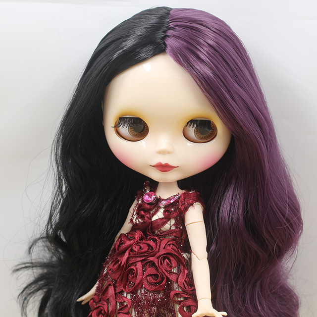 ICY Neo Blythe Doll Black Purple Hair Jointed Body