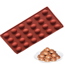 4YANG  24Holes Ball Shape Silicone Mold Cake Pastry Baking Soap Jelly Pudding Ice Mould Silicone Chocolate Candy Fondant Forms цена и фото