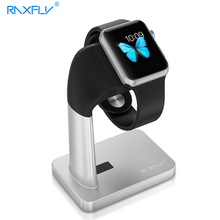 RAXFLY Watch Stand For Apple i Watch Aluminum+ABS Charger Holder Smart Watch Dock Holder Charger Hole Stand For Apple iwatch