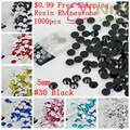 Resina Strass Para Nails Art Encantos 1000 pcs 5mm Flatback Artesanato Solto Imitação Cola Em Diamantes DIY Fazer Jóias suprimentos