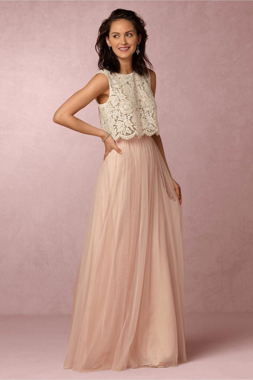 Magnífico Damas De Honor De Los Vestidos De La Tripulación J Modelo ...