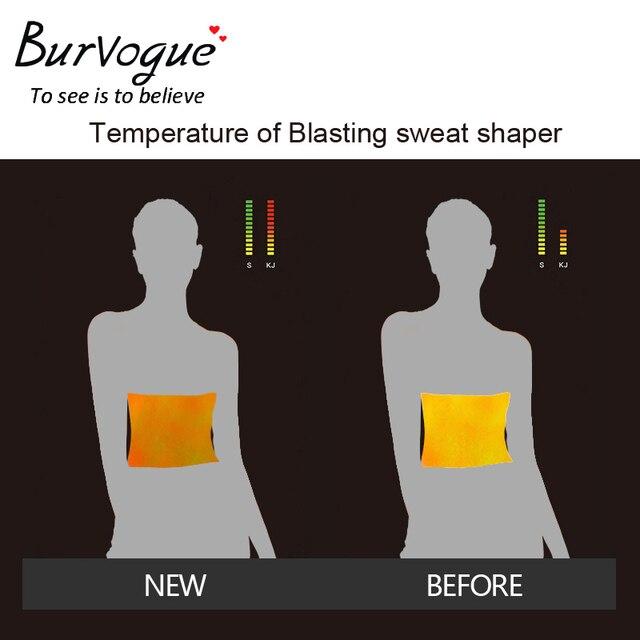 Burvogue Slimming Belt Women Waist Trainer Corsets and bustiers Sweat Silver Coating Latex Corset 9 Steel Boned Underbust Corset 4