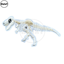Dinosaur Fossil Embroidery Patches for Stripes on the Backpack Stickers on Fabric Iron on Clothes Animals Bone Appliques @F-35
