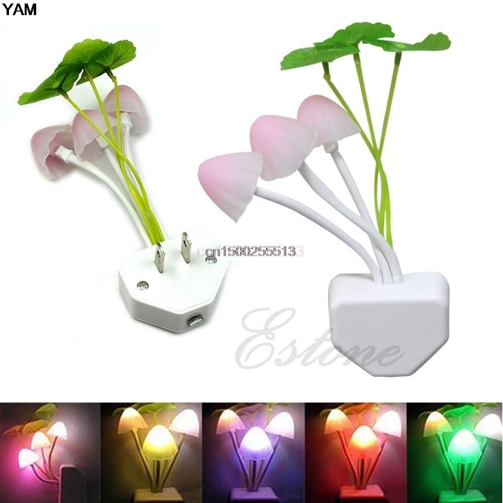 1pc Mushroom Night Light Colorful Romantic LED Mushroom Night Light DreamBed Lamp Home Illumination
