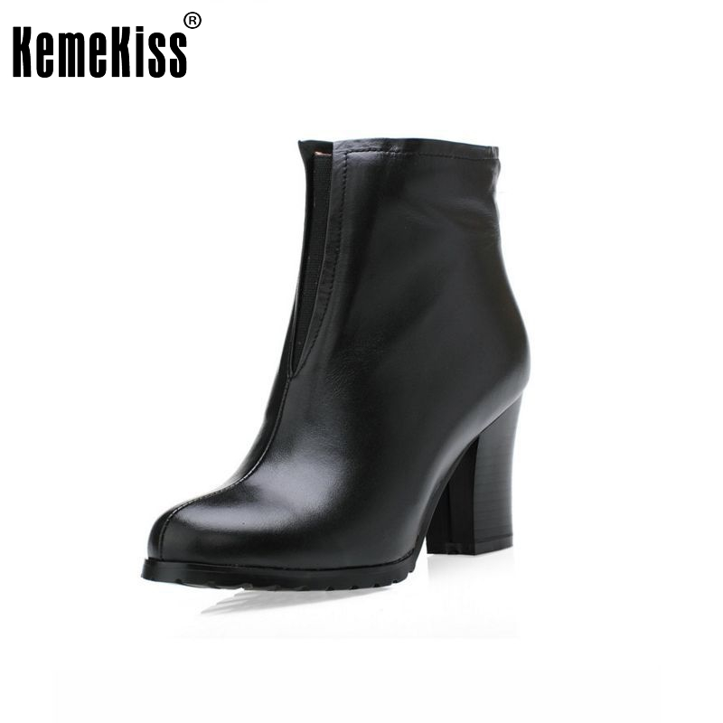 women real genuine leather high heel ankle boots snow half short botas warm winter boot footwear shoes R1598 size 34-39 women pointed toe real genuine leather high heel ankle boots autumn winter wedding boot heels footwear shoes r7976 size 34 39