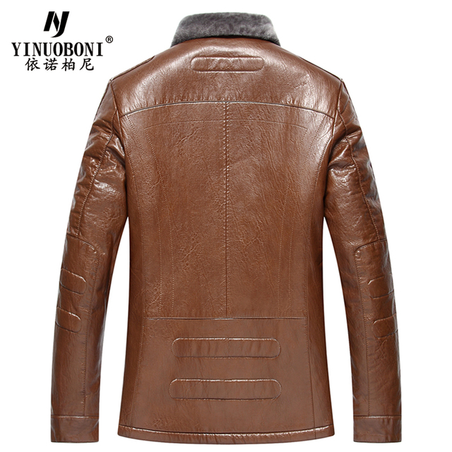 Top Quality Men Geniune Sheepskin Jacket Male Wool Warm Jacket Men ItalianDesign Brand Coat Winter Cashmere Coat For Men XXXL 4