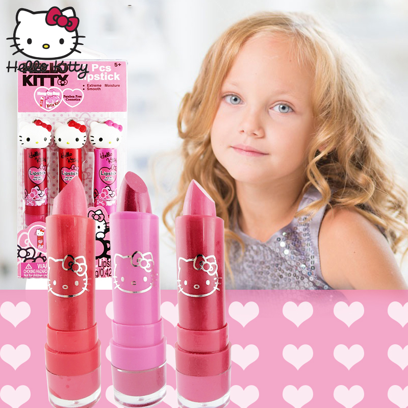 252cfaf7f 3pcs/set Hello Kitty Lip Gloss Cosmetics Kit 2019 New Girl's Makeup Box Pretend  Play Make Up Toy Children Princess Birthday Gift - aliexpress.com - imall.  ...