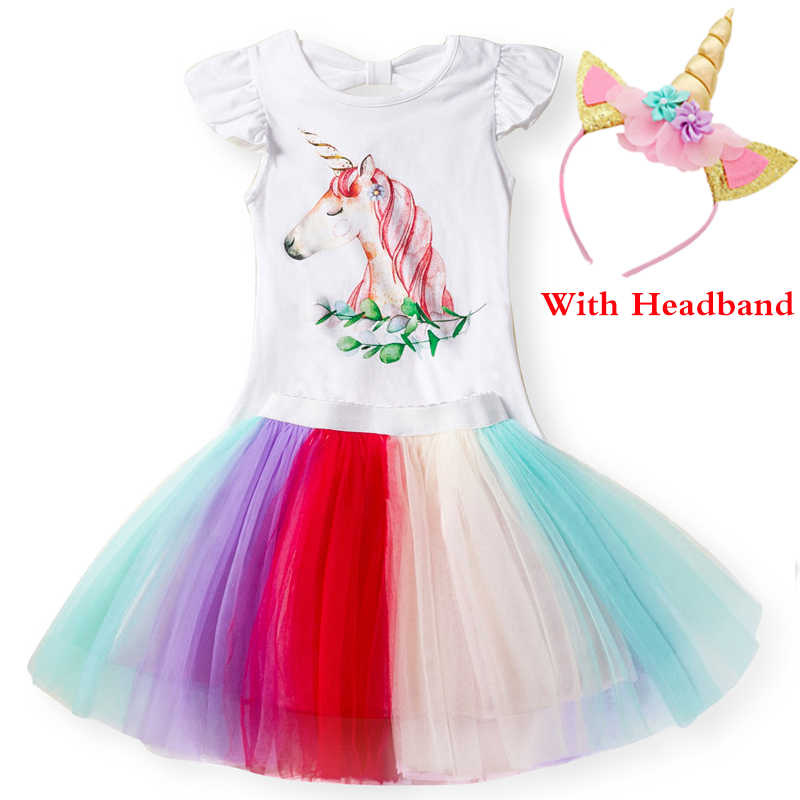 282cc67c2a Summer Unicorn Baby Dresses 2019 Kids Baby Girl Unicorn Birthday Outfits  Children Princess Dress for Girls Party Clothing Sets
