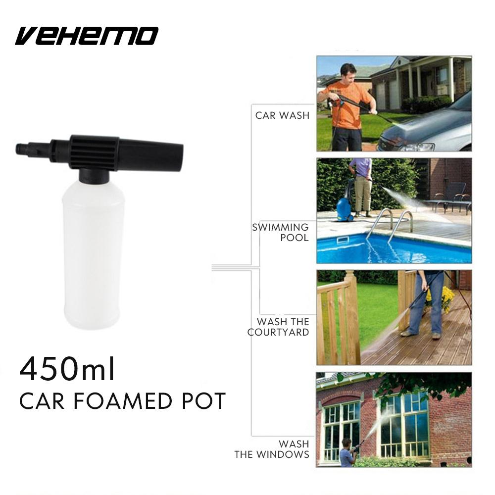 Vehemo 450ml with Adapter Car Foamer Wash Bottle Snow Foam Lance Supplies Pressure Washer Gun Maintenance Wash Adjust Tool