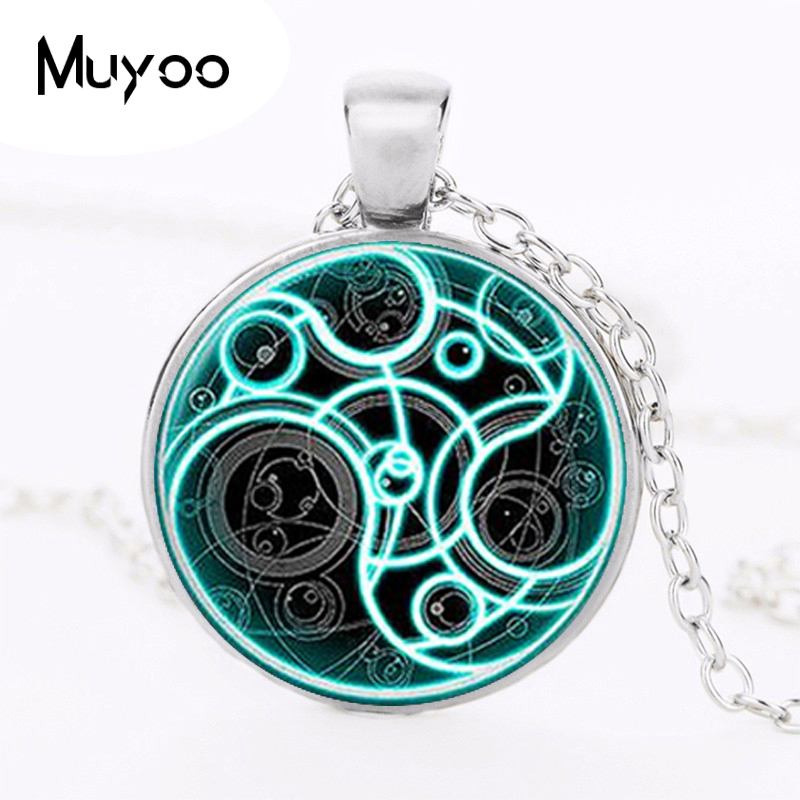 New Steampunk handmade uk movie dr doctor who bomb necklace bronze glass silver Pendant jewelry mens womens gift HZ1