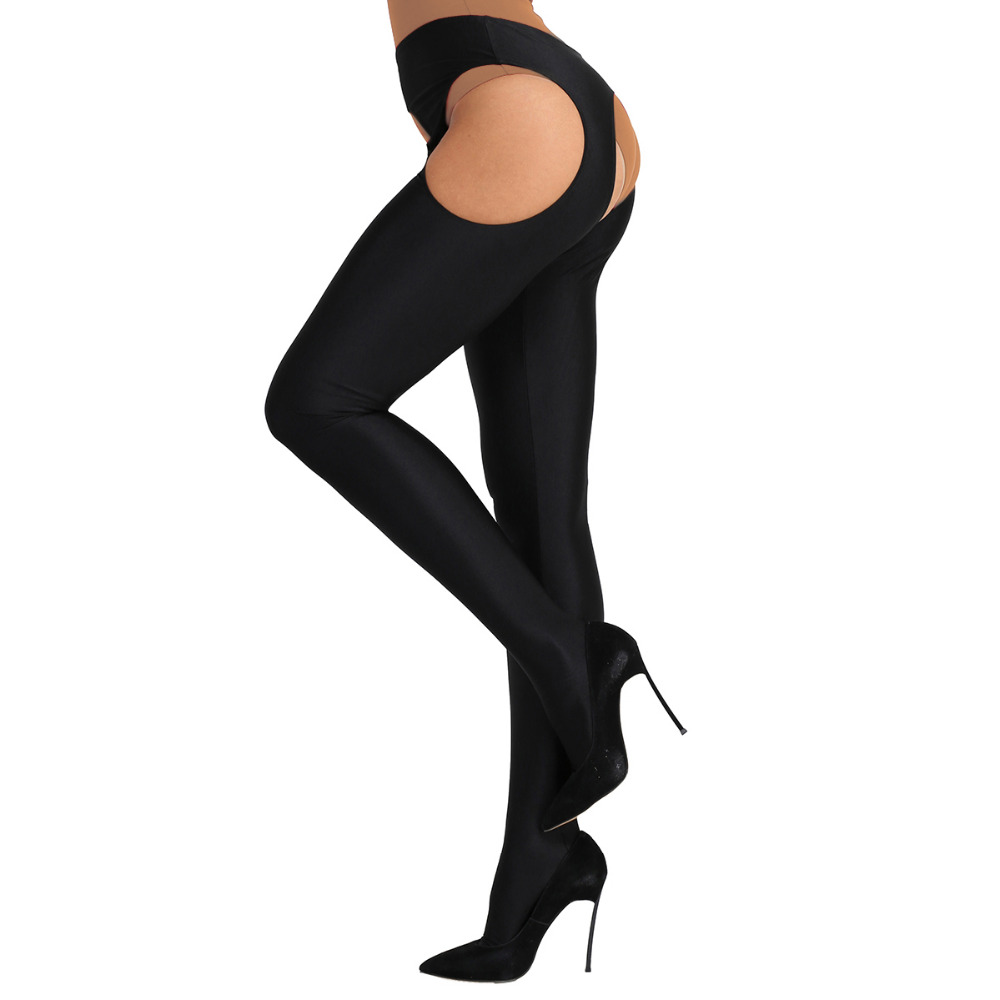 Women Lingerie Hollow Out Open Crotch Long Stockings Stretchy Suspender Pantyhose Tights Bodystockings Nightwear Sleeping Cloth