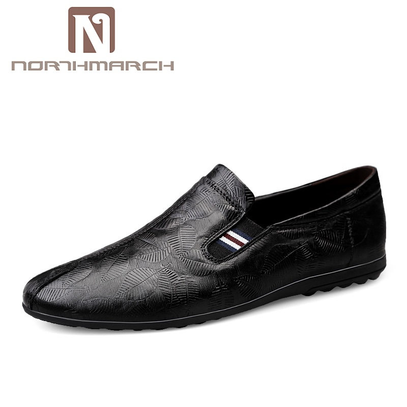 NORTHMARCH Nieuwe Lederen Mannen Schoenen Mode Mannen Casual Schoenen Instappers Mocassim Masculino Driving Heren Zapatos Hombres