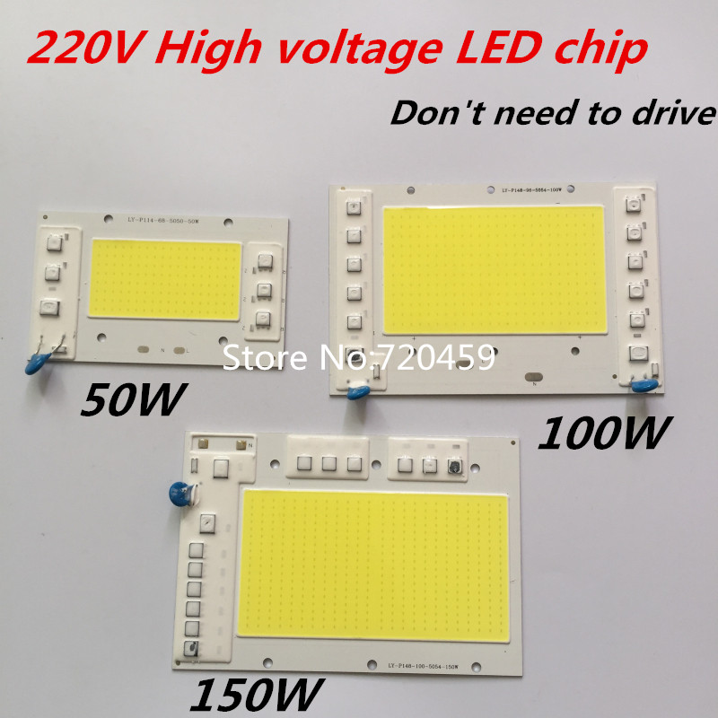50W High power LED Chip 220V High voltage Dont need to drive 150W 100W COB chip lamp light For DIY Spotlight Floodlight