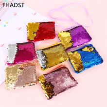 2019 New Mermaid Sequins Coin Purse Wallet Kids Girl Glittering Purse Women Handbag Party Zipper Clutch Bag Earphone Package(China)