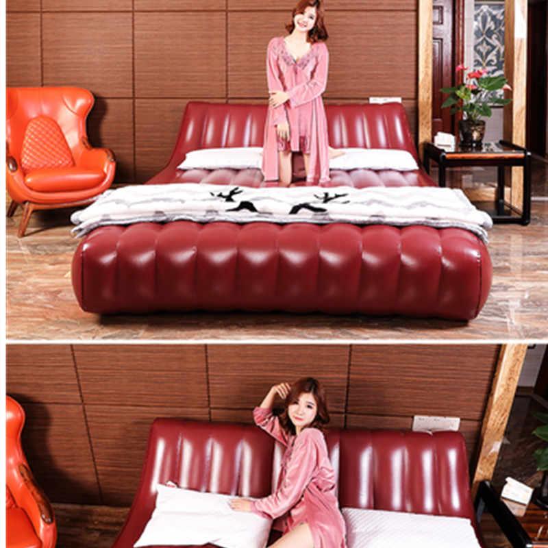 Portable Inflatable Beds Bedroom Furniture Elastic Soft Sex Love Bed Frame Double Plus Size Love Sofa Cabecero De Cama Modernos
