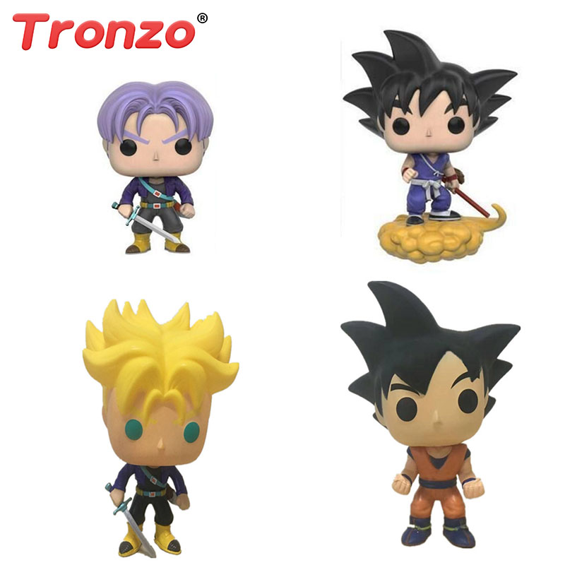 Tronzo 10cm POP Dragon Ball Model Toy Son Goku Trunks PVC Action Figure Super Saiyan Doll Collection Toy Gift For Boy Wholesale pop figurine collection toy figure model doll
