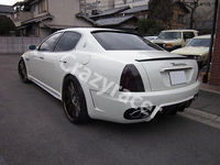 Trunk Boot Lip Spoiler Wing For Maserati Quattroporte 05 08 Carbon Fiber