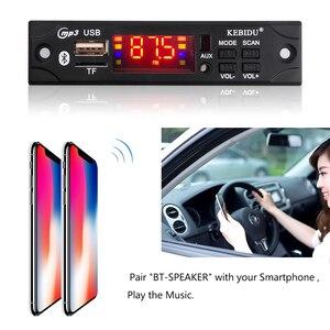 Image 3 - Kebidu samochodowy sprzęt Audio moduł radiowy FM bezprzewodowy Bluetooth 5V 12V MP3 płytka dekodera WMA odtwarzacz MP3 z pilotem obsługuje USB TF