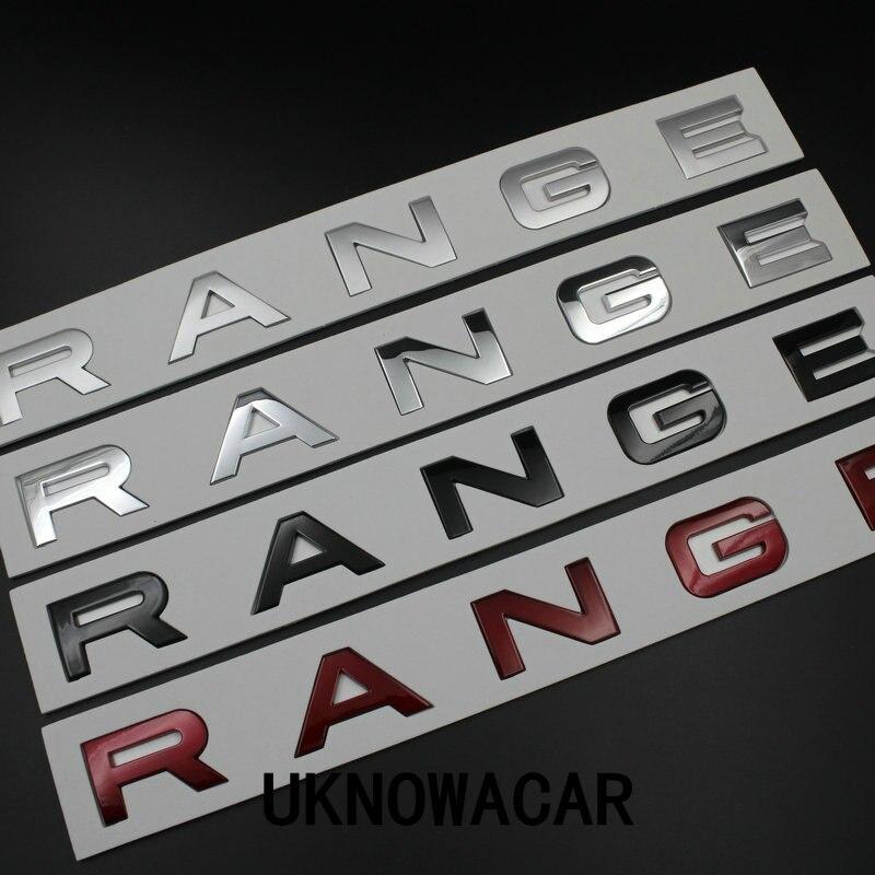 5 шт./лот новый капот Передняя письмо знак эмблема для Range Rover Land Rover наклейки Высокое качество