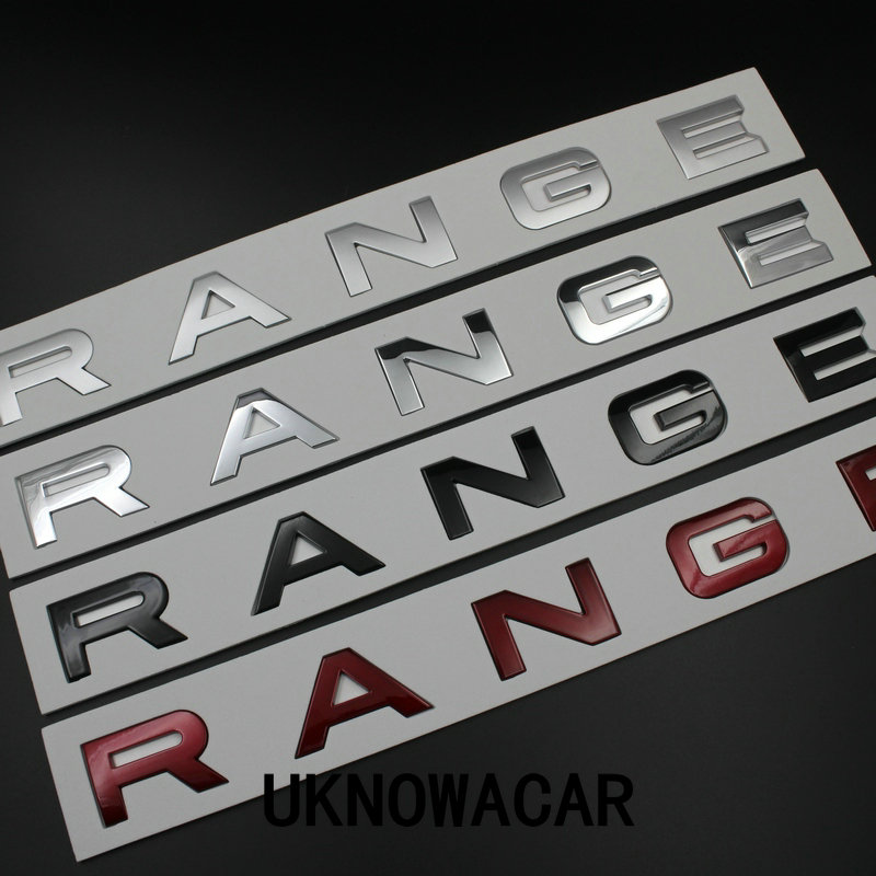 5pcs/lot NEW hood front badge Letter emblem For Range rover Land rover car stickers hight quality руководящий насос range rover land rover 4 0 4 6 1999 2002 p38 oem qvb000050