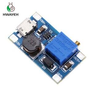 Image 2 - 5pcs/lot MT3608 DC DC Adjustable Boost Module 2A Boost Step Up Module with MICRO USB 2V   24V to 5V 9V 12V 28V LM2577