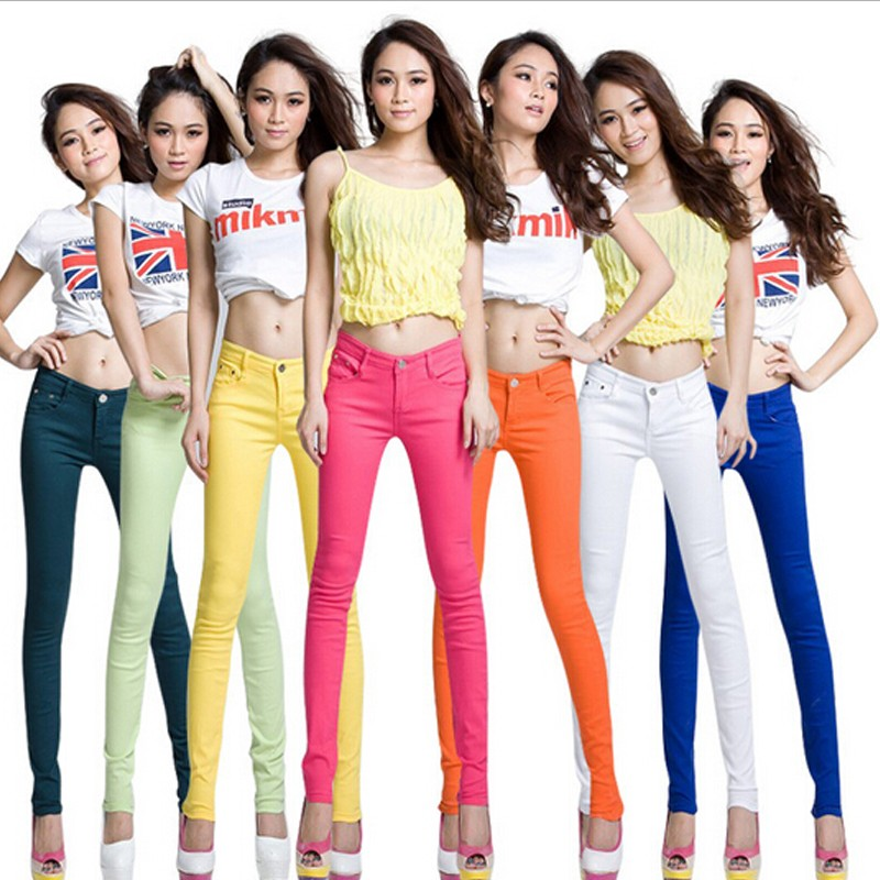 Women Sexy Pencil Pants Spring Candy Color Casual Pants Skinny Pants Cotton Summer Trousers Hot Sale (2)