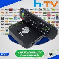 2018 Tigre tv box HTV6 HTV BOX 5 iptv SCATOLA HTV6 H. TV 6 Brasiliano Portoghese TV Internet Streaming box Live HD Filmes Su Richiesta TV