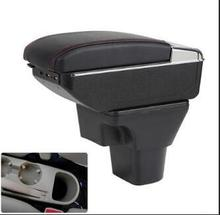 Car Armrest For Hyundai Accent RB Solaris 2011-2016 Centre Console Storage Box Arm Rest Rotatable 2012 2013 2014 2015 for hyundai solaris armrest box solaris 1 universal 2010 2016 car center console modification accessories double raised with usb