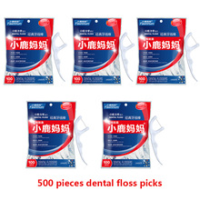 FAWN MUM Dental Floss Pick Dental Flosser 500 Pieces Tooth Stick Dent Teeth Pick Dental Cleaning Thread For Teeth
