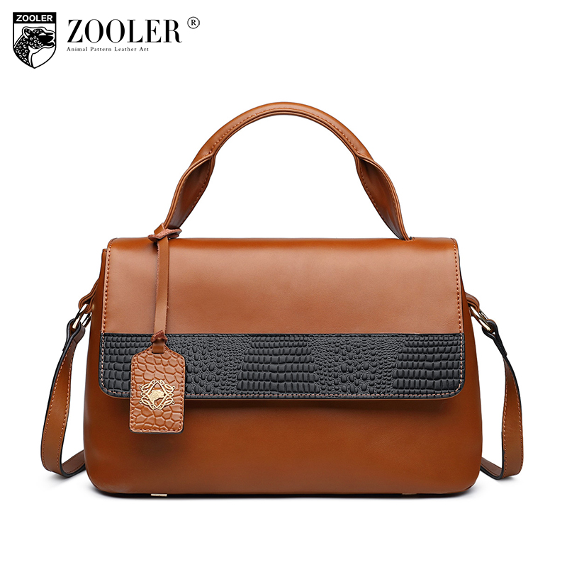 ZOOLER Genuine Leather bag luxury handbags women bags designer high quality Leather Shoulder bags crossbody bags for women 6986 zooler fashion casual shoulder bag crossbody bags luxury brand designer handbag women high quality genuine leather purse h123