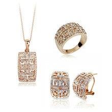 Дизайн распродажа Золотой австрийский кристалл набор украшений для женщин