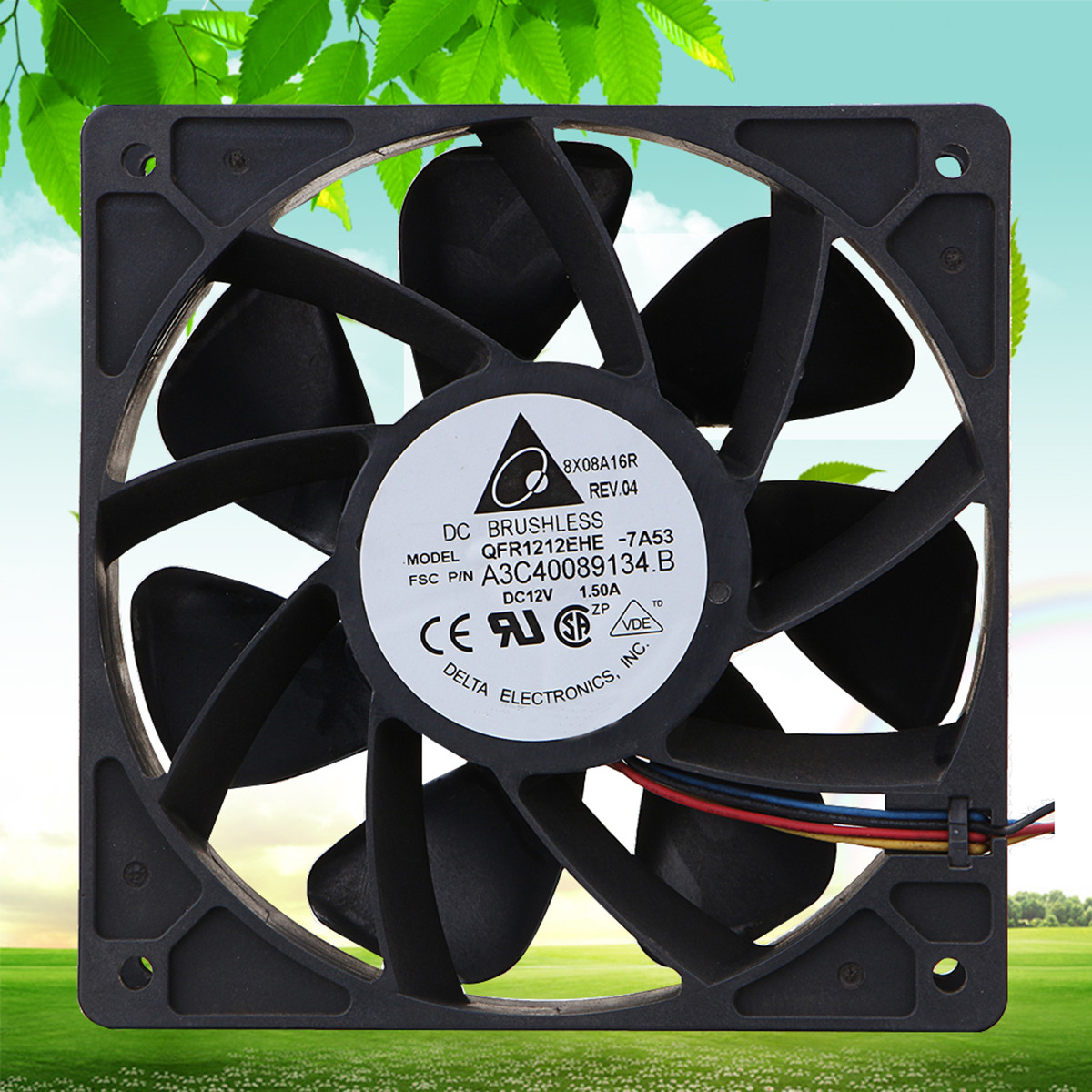 New Black Computer Cooling Cooler fan For BTC 6000RPM Cooling Fan Replacement 4-pin Connector For Antminer Bitmain S7 S9 new f12738 127mm axial cooling fan large air flow 3650rpm two ball bearing 12v 10w fan cooler 3 pin fan connector cooling system