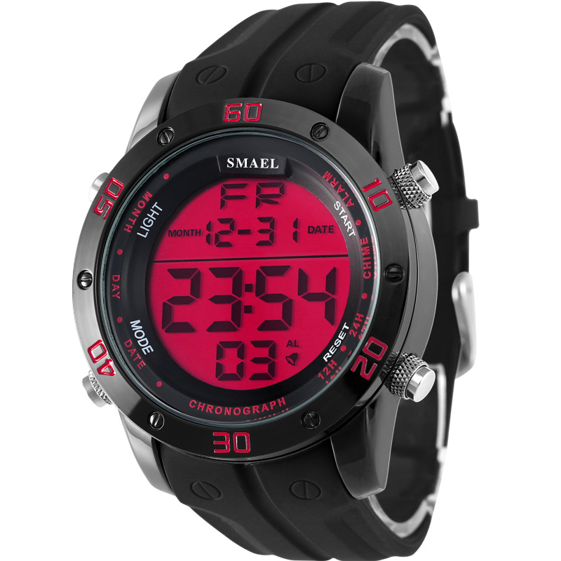 ФОТО 2017 Brand New Analog Relogio Digital Display Military Alarm Stopwatch Black Alloy Strap Men Quartz Casual Mens Sports Watch