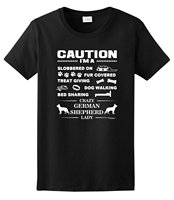 Women S I M A Crazy German Shepherd Lady Dog Lover S Ladies T Shirts Short