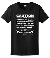 Women S I M A Crazy German Shepherd Lady Dog Lover S Ladies T Shirts Short