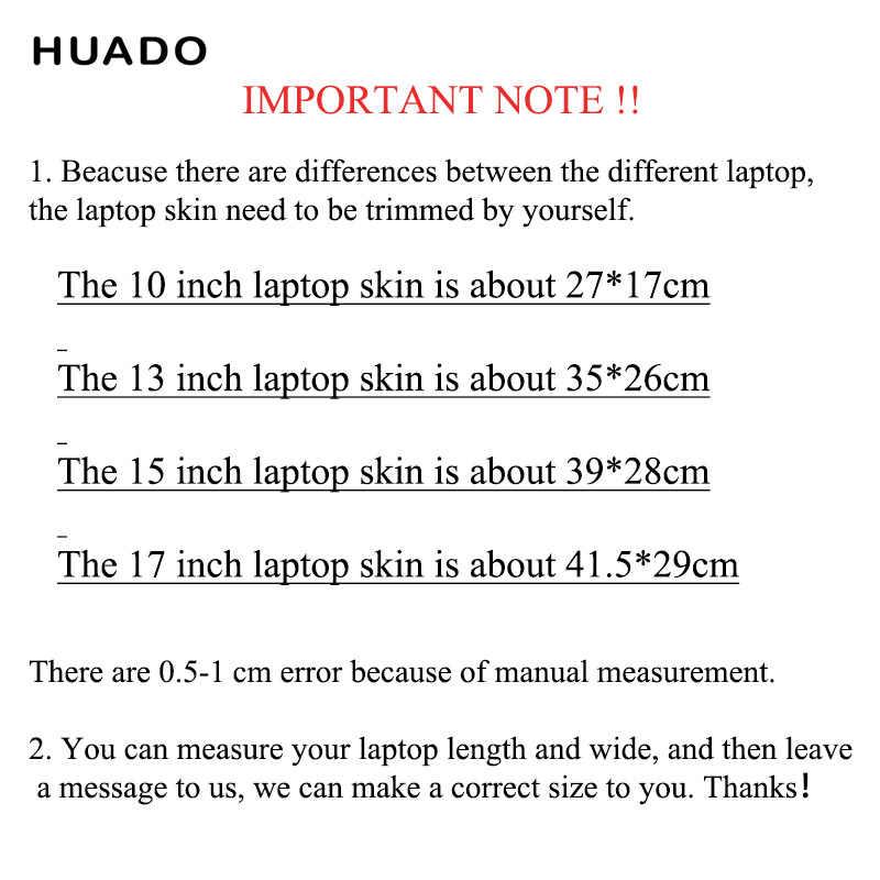 """مفكرة الجلد ل 17 بوصة ملصقات الكمبيوتر 12 """"14"""" الفينيل ملصق ل 15 """"15.6"""" محمول الجلد الشارات ل mi برو 13.3/أيسر/hp/ديل/ماك"""