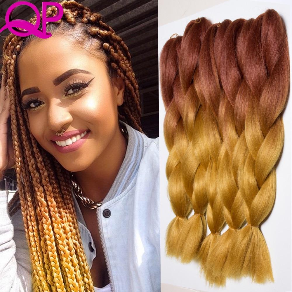 Aliexpress Com Buy 10pcs Brown Blond Two Tone Kanekalon