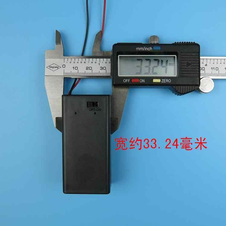 1 ピース 9 ボルトバッテリーケース 9 ボルトボルト PP3 バッテリーホルダーボックス DC ワイヤーでリード/ オフスイッチカバー