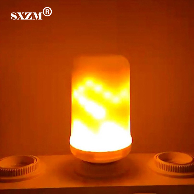 SXZM E27 Flame Flickering Corn LED bulb AC85V-265V E27 Simulation Fire home lamp Indoor/Outdoor Decorative Holiday Christmas lole капри lsw1349 lively capris xs blue corn